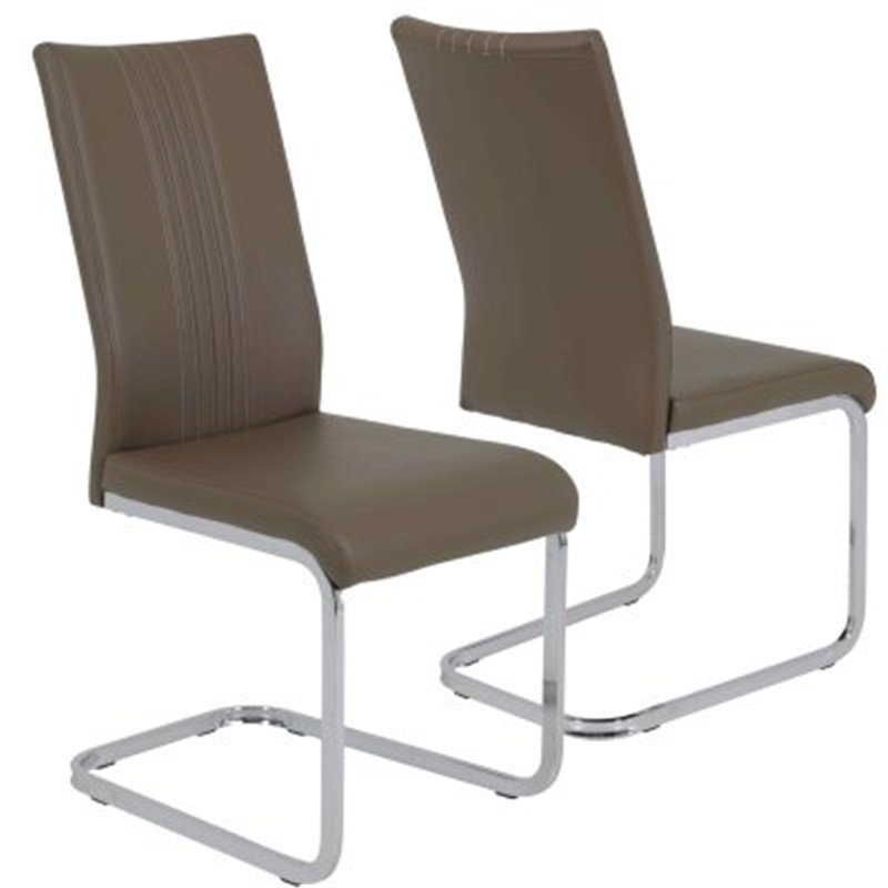 Lot 6 Chaises Cafe Latte