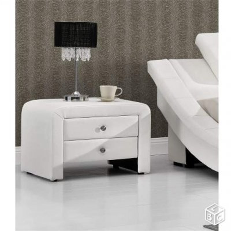 chevet design blanc. Black Bedroom Furniture Sets. Home Design Ideas