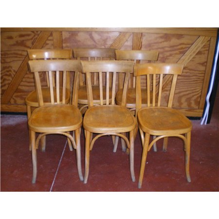 Lot 6 Chaises Bistrot